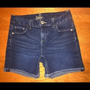 Justice jean shorts. Size 12